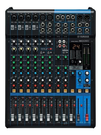 Mesa De Som Yamaha Mg12xu 12 Canais Mixer C/ Feito E Usb