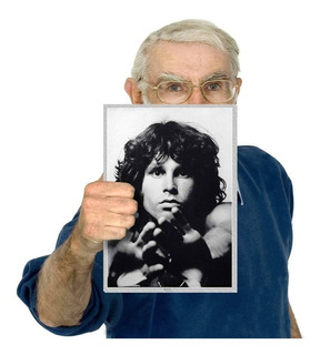 Quadro Placa Fotografia Banda The Doors Poster Tam. A4 16
