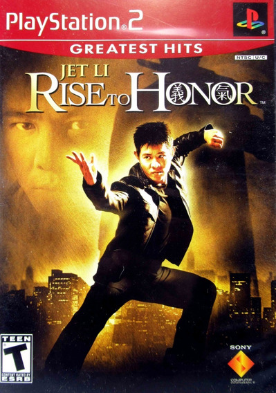 Jogo Dvd Ps2 Jet Li Rise To Honor Playstation 2 Original