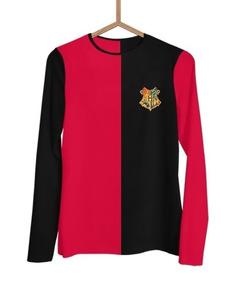 Camisa Manga Longa Harry Potter Tribruxo Grifinoria J0076