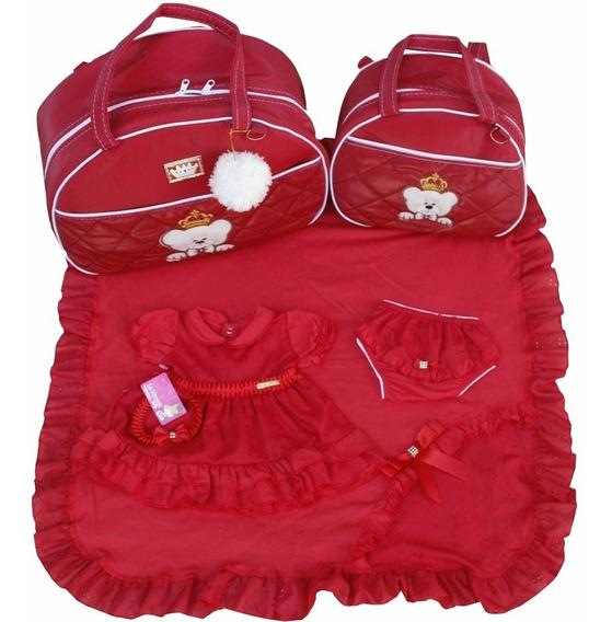Kits Saidas De Maternidade Com Bolsas 2pcs Menina Vermelho