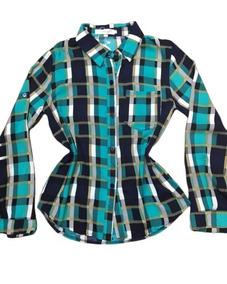 Camisa Xadrez Feminina Tendência Blogueiras Pronta Entrega