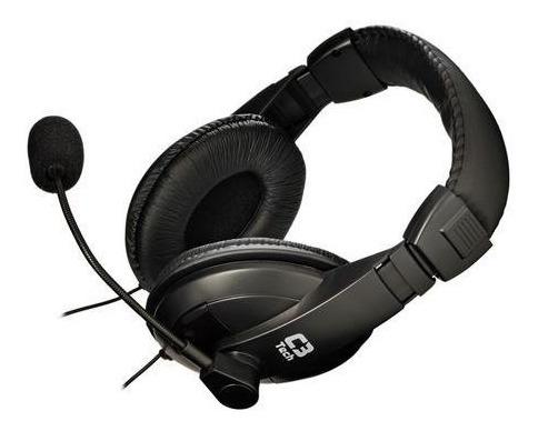 Headset C3tech Mi-2260arc Voicer C/microfone Preto