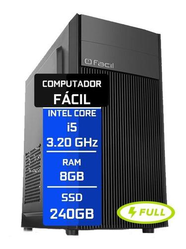 Computador Fácil Intel Core I5 2.70 Ghz 8gb Ddr3 Ssd 240gb