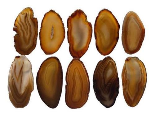 Chapinhas De Ágatas Naturais Sem Furo (4 A 7 Cm) - 10 Un