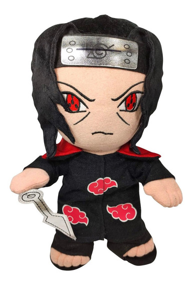 Muñeco De Peluche Itachi Naruto 34cm Kunai Sharingan Envío