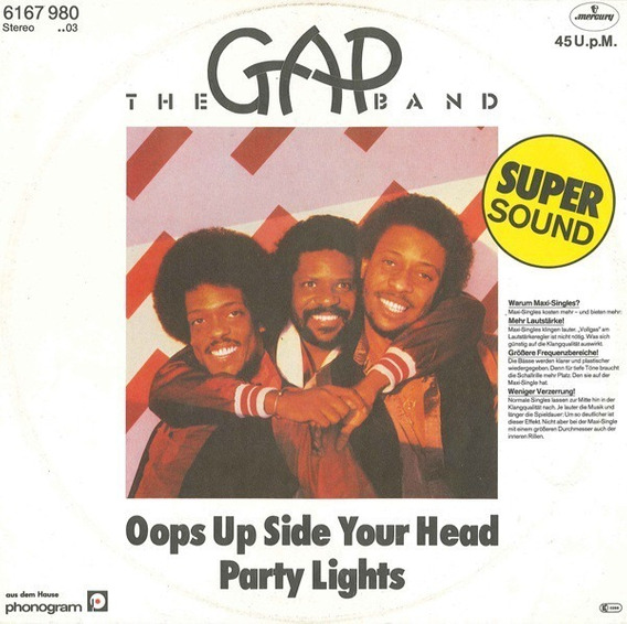 The Gap Band - Oops Up Side Your Head Vinilo Maxi Germany!!