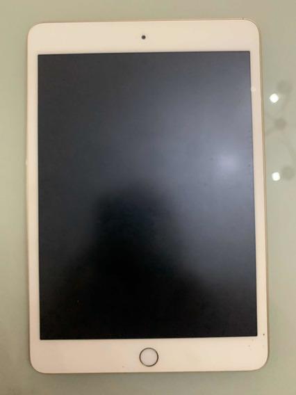 iPad Mini 3 - 16gb Dourado Com Capa Vermelha Original.