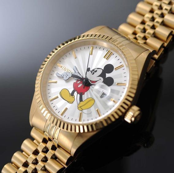 Relógio Invicta Disney Limited Mickey Plaque Ouro 22770