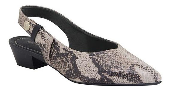 Sapato Serpente Print Brown Sugar Preta Bottero - 307501