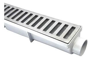 Ralo Linear 6x50 + Caixa Coletora Branca + Tela Anti Insetos