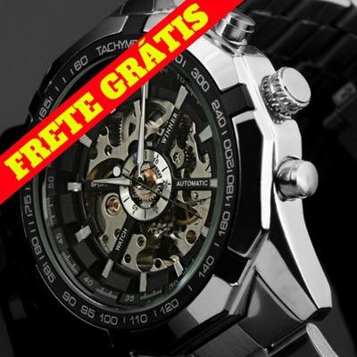 Relógio Importado Skeleton Original Automático Frete Grátis