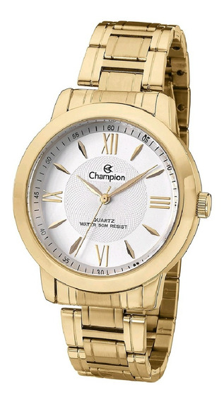 Relógio Feminino Dourado Champion Original Promoção Ch24697h