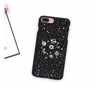 Funda Galaxia En Blanco Y Negro Para iPhone