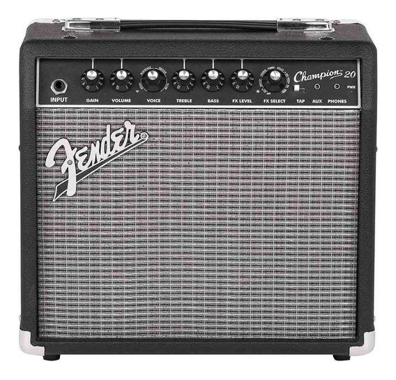 Amplificador Fender Champion 20 20W transistor negro y plata 110V