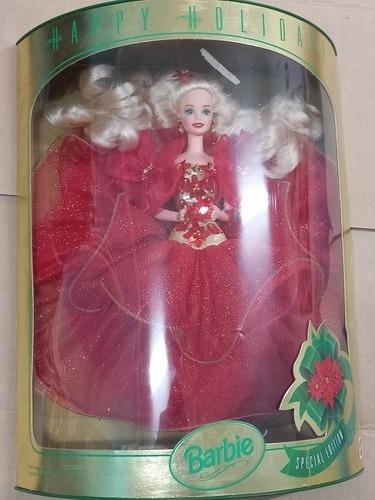 Imagem 1 de 10 de  Barbie 1993 Happy Holidays Natal Gala Superstar Antiga 80