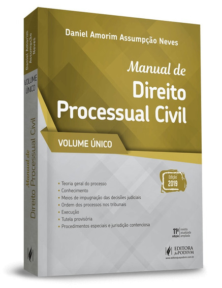 Manual De Direito Processual Civil Vol. Unico 11ª Ed. (2019)
