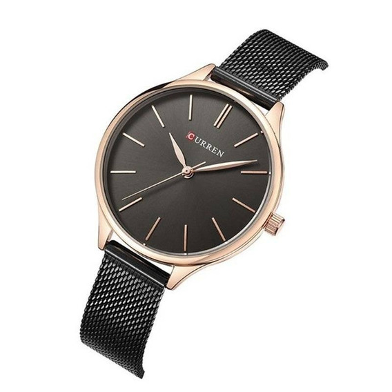 Relógio Feminino Curren Analógico C9024l Preto Nota Fiscal