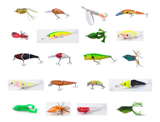 Kit 20 Señuelos Pesca Ideal Tarariras Dorado Envio Gratis