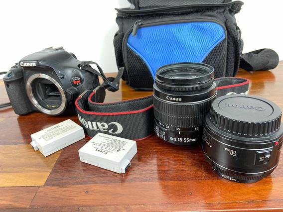 Canon T3i Eos Rebel Dslr, Câmera Fotográfica Profissional