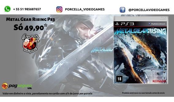 Metal Gear Rising Ps3 Original Midia Física Playstation 3