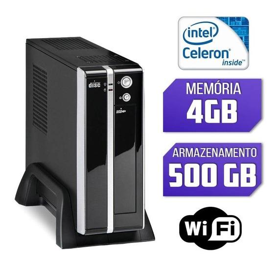 Mini Cpu Intel Quad Core, 4gb, Hd 500gb, Wifi Com Hdmi