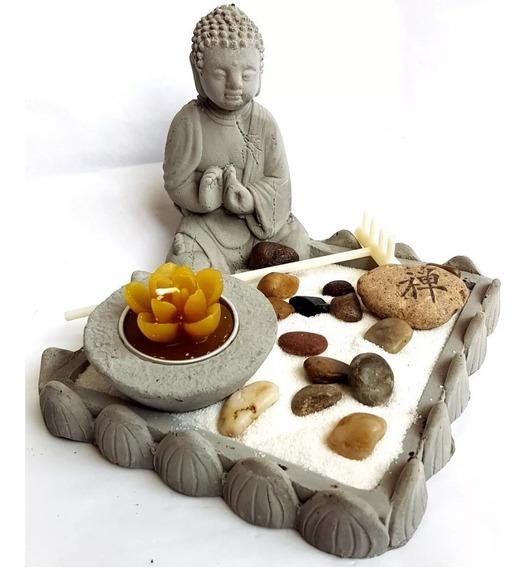 Jardín Zen Buda Meditando Feng Shui Deco