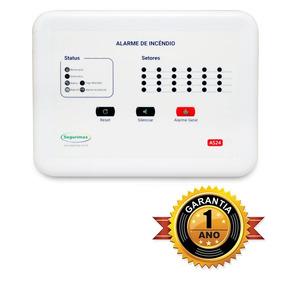 Central Alarme Incêndio 24 Setores +bateria Frete Grátis P2