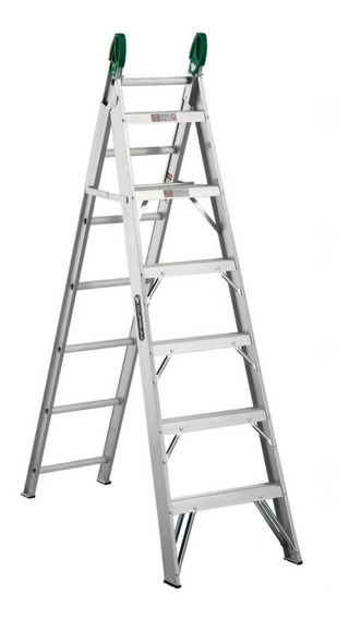 Escalera Convertible Aluminio Cuprum C-2287-13 175 Kg
