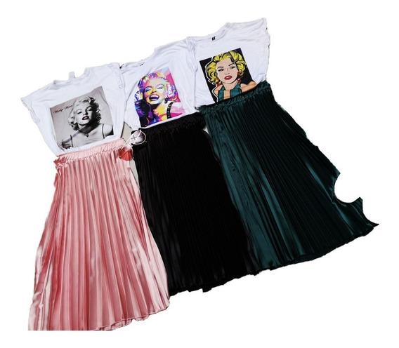 Falda Para Mujer En Crepe Diseño Juvenil F.24