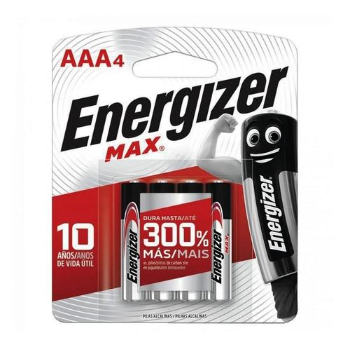 Imagen 1 de 1 de Pila AAA Energizer MAX E92 Cilíndrica - Pack de 4 unidades