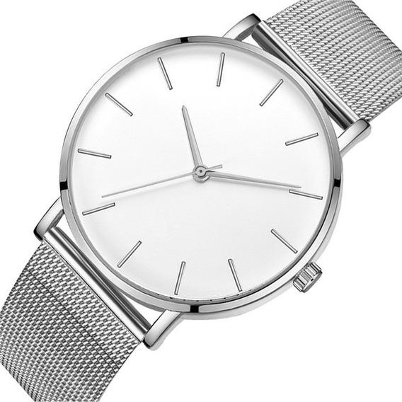 Relógio Masculino Pulseira De Aço Inoxidável