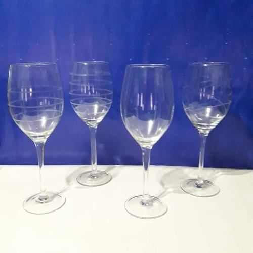 Set De Cuatro Copas De Vidrio Para Vino.nuevas. Marca Maint