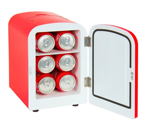 Mini Refrigerador Auto Casa Portátil Calienta Enfría Ac / Dc
