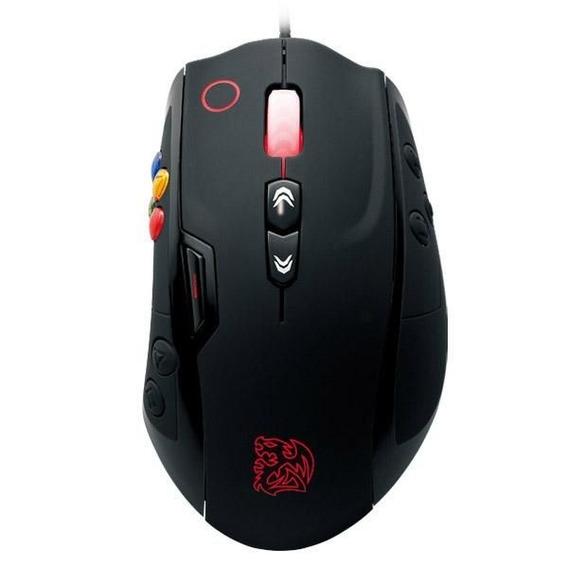 Mouse Gamer Thermaltake Tt Sports Volos Black 8200dpi 14 Botões Macro Top