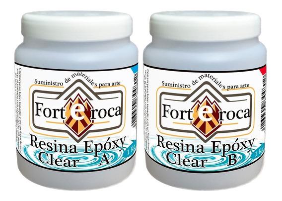 Resina Epóxica Cristal Epoxy-clear Sin Olor Fuerte 2 Kg.