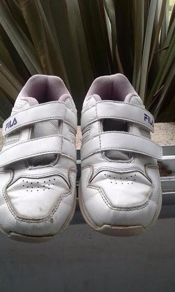 Zapatillas De Nena Fila Nª 28 Con Abrojo