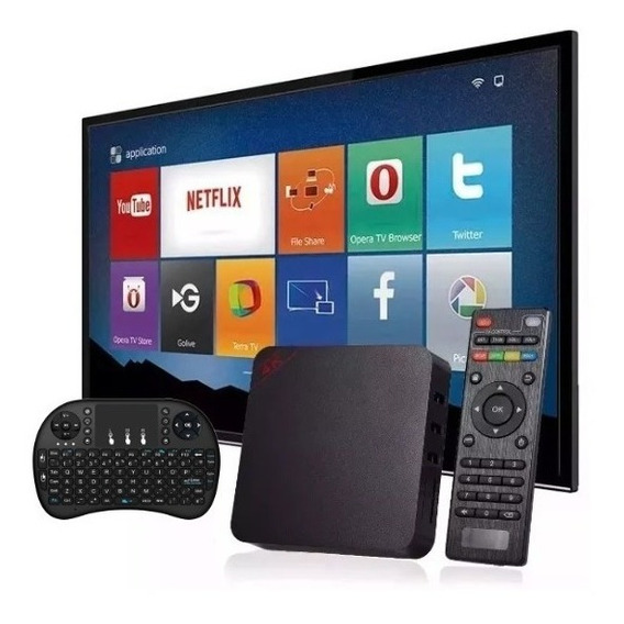 Aparelho Conversor Smart Tv Box 16gb+teclado Pronta Entrega
