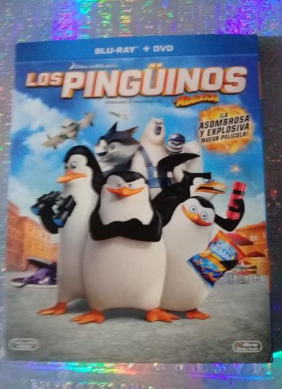 Nuevo Dvd + Blu-ray Pelicula Los Pingüinos De Madagascar