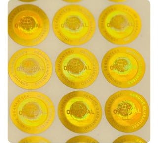 1000 Hologramas Oro Original De 2cm Daño Al Despegarse