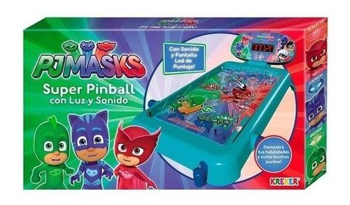 Imagen 1 de 4 de Heroes En Pijama Super Pinball Con Luz Y Sonido Pj Masks