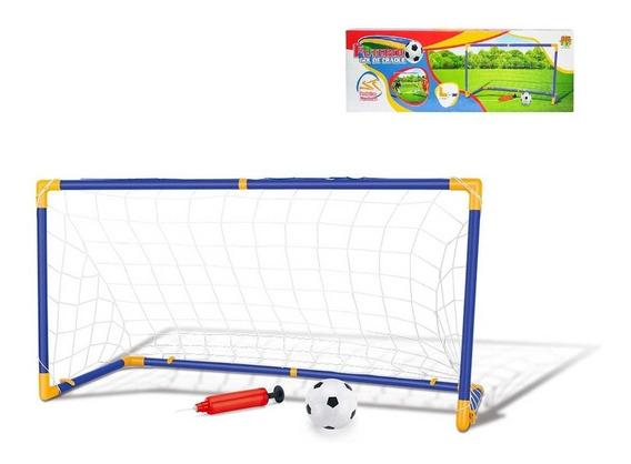 Kit Jogo De Futebol Golzinho Mini Trave Gol Infantil + Bola