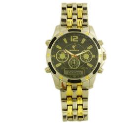 Relógio De Pulso Potenzia Masculino Prata Com Dourado B5664
