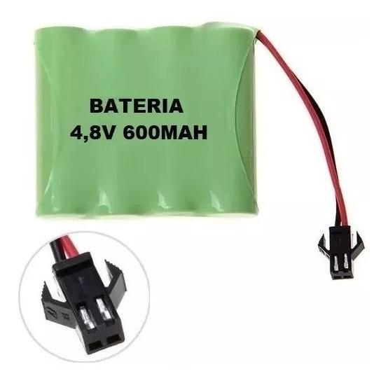 Bateria Carrinho 4,8v Aa Ni-cd 600mah Com Conector Smp 02 Of