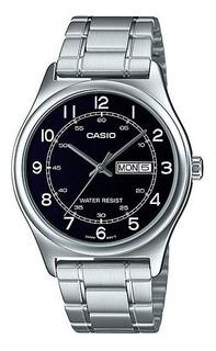 Reloj Casio Mtp-v006d-1b2 Formal Ag Oficial Caba Gtia 2 Años