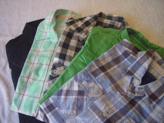 Kit De 5 Camisas Semi Novas Tem Duas Liza E Três Xadrez