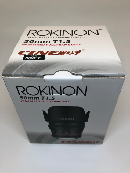 Rokinon 50mm T1.5 As Umc Cine Ds Para Sony E-mount