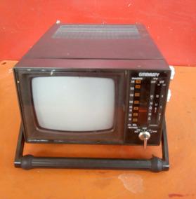Antigo Rádio Am Fm E Tv Preto E Branco 4 Polegada Embassy