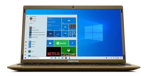 "Notebook Positivo BGH Motion Q4128C dourada 14.1"", Intel Atom Z8350  4GB de RAM 128GB SSD, Intel HD Graphics 1366x768px Windows 10 Home"