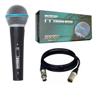 Microfono Dinamico De Mano Voces Con Cable Moon M58